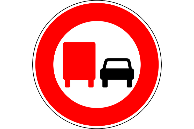 Overtaking HGV Truck Sign how much does class 2 cpc lgv driver licences cost? prices From Hgv training cost of essex