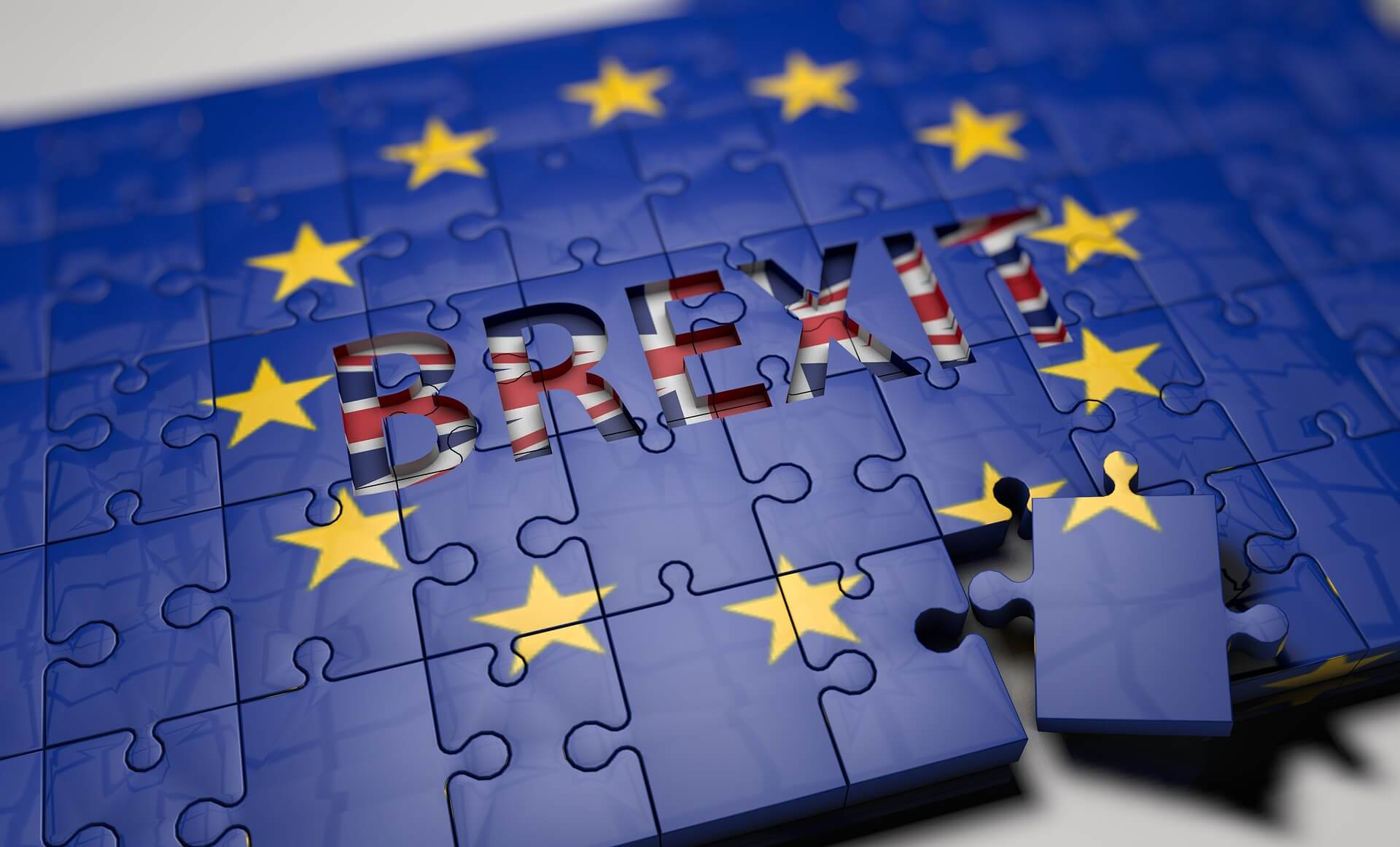 Brexit jigsaw illustration